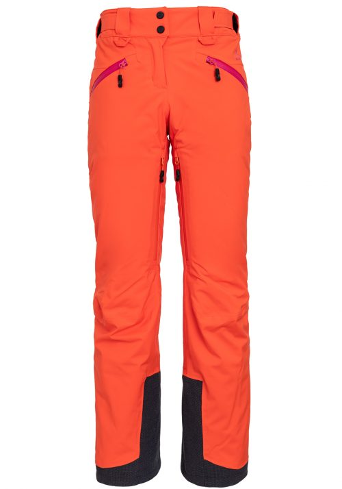 orange ski pants women